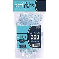 PaffRight Premium Filtri per Sigarette monouso, Confezione conveniente, 300 per Confezione