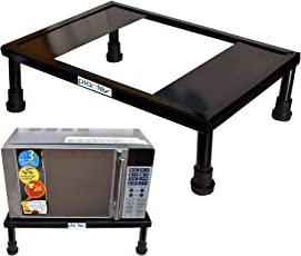 Plantex Floor Heavy Gi Metal Universal Microwave Oven Fix Stand for Kitchen Platform, 30L (Black)