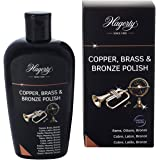 Hagerty Copper Brass & Bronze Polish 250 ml I Eficaz loción limpiadora de cobre, latón y bronce para renovar el brillo I Limp