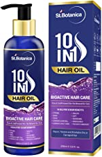 StBotanica 10 In 1 Bioactive Hair Oil (10 Pure Oils in 1) - No Mineral Oil and Parabens - 200ml