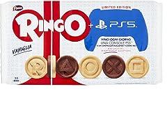 Pavesi Ringo Biscotti Farciti con Crema al Gusto Vaniglia, 6 x 55g