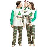 ROSEBEAR Family Matching Christmas Clothes, Xmas Pajamas Set for Women Men Kid Baby Xmas Nightwear Pajamas