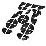 Finest-Folia K004 emblem hörnklistermärke glansig svart