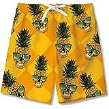 AIDEAONE Pantalones cortos para niños con forro de malla para nadar, secado rápido, ropa de playa