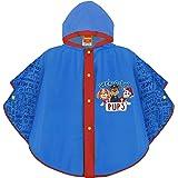 PERLETTI Chubasquero Niño Paw Patrol Azul - Poncho Impermeable Niños 3 4 5 6 Años Patrulla Canina - Ropa de Agua con Capucha