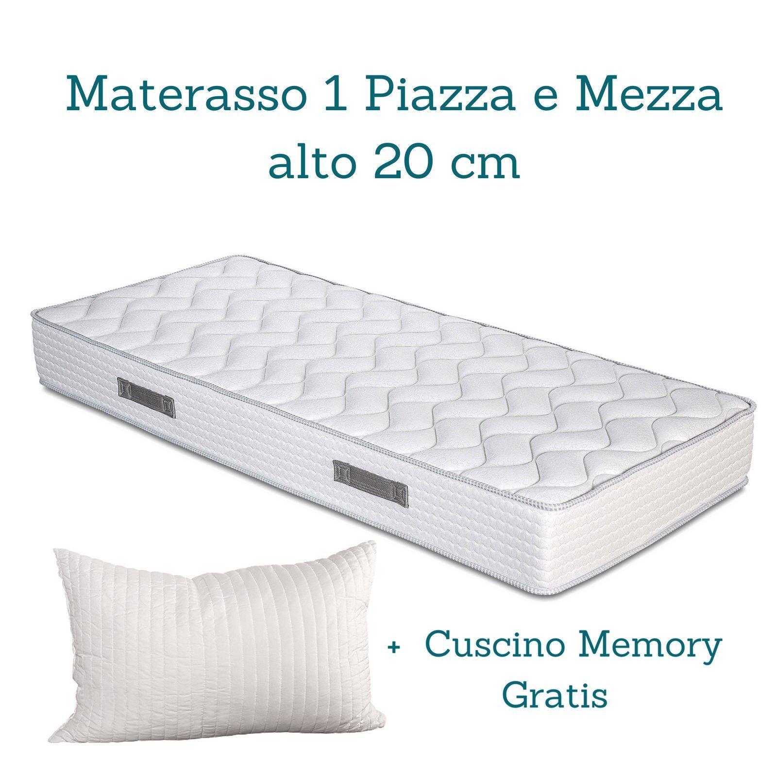 Evergreenweb - Kit Rete e Materasso Una Piazza e Mezza 120x190 Alto ...