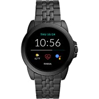 Fossil Gen 5E Men's Smartwatch with Stainless steel band, Full Touch, AMOLED screen, Bluetooth calling, and Built-in GPS…
