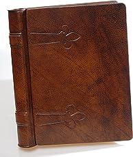 Masters Buchhandlungen eugubini–Album Fotos cordonigiglio Leder von Kalbsleder von Hand Deko Lilie, Größe: 20x 25cm