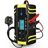 HAUSPROFI Car Battery Charger, 12V/24V 8Amp Automatic Battery Charger with 3-Stage Charging, 6 Charging Mode and LCD…