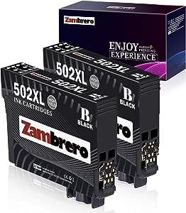 Zambrero 502xl Schwarz Patronen Ersatz Für Epson 502 Xl Druckerpatronen Kompatibel Mit Epson Workforce Wf 2860dwf Wf 2860 2865dwf Wf 2865 Epson Expression Home Xp5100 Xp 5100 Xp 5105 Xp 5115 2 Bk Bürobedarf