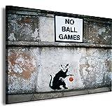 "Druck auf leinwand ""Banksy"" Graffiti Bild fertig auf Keilrahmen ! Pop Art Gemälde Kunstdrucke, Wandbilder, Bilder zur Dekoration - Deko / Top 200 ""Banksy"" Streetart Wandbilder"