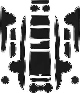 Cdefg Für Santa Fe Tm 2020 Gummimatten Auto Innere Türschlitz Rutschfest Anti Staub Becherhalter Matte Arm Box Aufbewahrung Pads Zubehör Auto