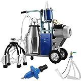 SucceBuy Machine à Traire Machine Traire pour Vache Chèvre Machine à Traire Electrique 25L Trayeur de Ferme (25L)