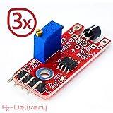 AZDelivery ⭐⭐⭐⭐⭐ HC sr04 Capteur à ultrasons Module Télémètre pour Raspberry Pi et Arduino 3x Touch Sensor