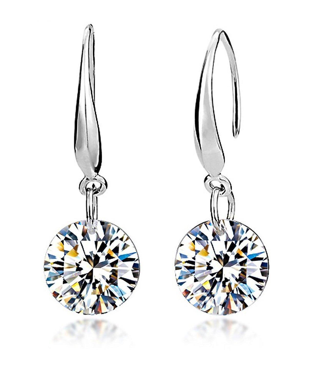 FULLA2116�Fashion Lady circolare Diamond Shine argento orecchini