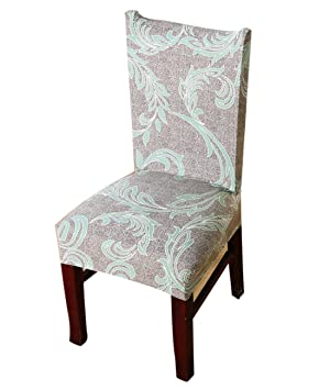 Lixinsunbu Dining Room Stretch Stripe Printed Chair Cover