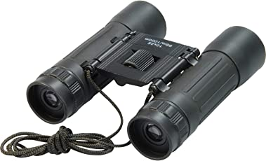 Inditradition 10x25mm HD High Powered Binoculars | for Kids & Adults, Free Carry Case (Black)