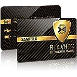 RFID Blocker Karte (2 Stk) NFC Blocking Card Schutzkarte für Kreditkarten, Geldbörse, Personalausweis, Kreditkartenetui, EC Karten