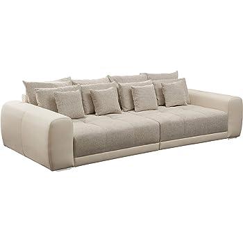 Riess Ambiente Modernes Xxl Sofa Giant Lounge In Greige Wohnzimmer