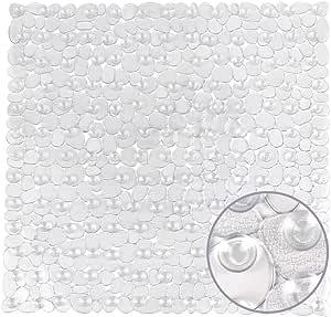 Weltrxe Duschmatte Antirutschmatte Aus Kunststoff Für Kinder Und Familie Dusche Rutschfeste Badewannenmatte Mit Hunderte Saugnäpfen Quadratisch Duscheinlage Pvc 54 X 54 Cm Transparent Küche Haushalt