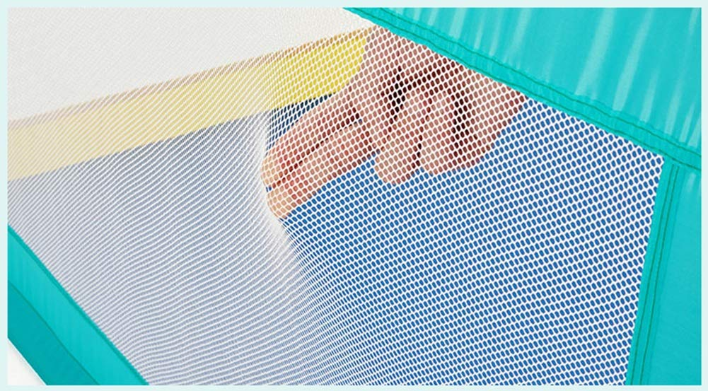 YYHSND Baby Playpen Kids Activity Center Indoor Outdoor Safety Playard Home Fence, 70cm High Child protection (color : 120×120×70cm)  The child safety fence is designed to be easily placed anywhere in the home. At any time, you need it to be installed quickly and create a separate game space for your baby. Luxurious, durable, non-toxic, healthy and environmentally friendly material, beautifully sleek product surface, soft and fashionable baby's favorite design, waterproof and easy to clean product features, child protection fence, is the best gift for your child. ✅Material: Resistant-duty oxford material & removable airy mesh, sponge wrap, Intimate care, Direct sales by manufacturers. 4
