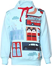 Tales & Stories Sky Cotton Printed Crew Neck Sweatshirt for Boys