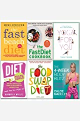 4-Week body blitz, fast beach diet, fastdiet cookbook, yoga for you, diet coach, food swap diet 6 books collection set Paperback