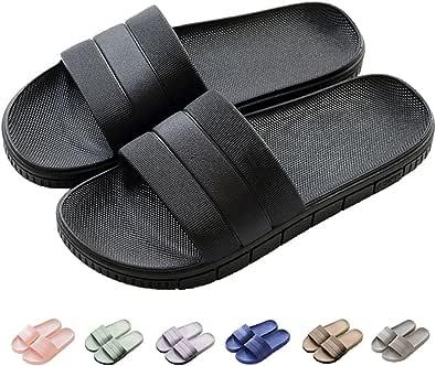 Unisex Slippers for Women/Men Non-Slip Ultralight Flat Soft Sandals Soft House Flip Flop for Indoor Home Garden Bathroom Poolside