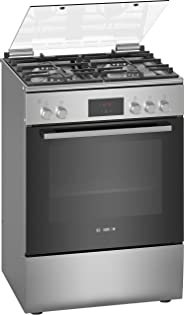 Bosch Serie | 4, 60X60 cm 4 Gas Burners Free standing Gas cooker, Stainless steel - HGB320E50M