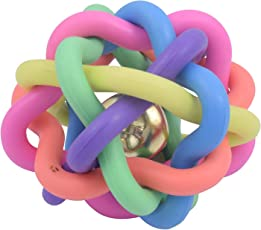 Sri Dog Multi Color Wire Ball With Bell Dog Toy Large