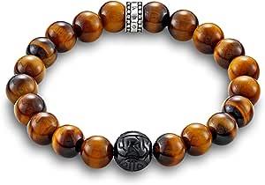Thomas Sabo A1408-806-2 Bracelet mixte en argent sterling 925 avec œil de tigre Marron,21,œil de tigre,