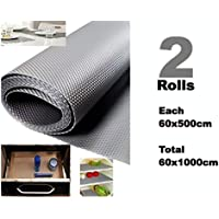 Bulfyss Multi-purpose Textured Strong Anti-Slip EVA Mat , Grey, 60x1000 cm - Set of 2