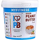 I LOVE PB MYFITNESS Original Peanut Butter Smooth Crunchy Combo (1250 g) Pack of 4