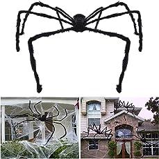 Unomor Halloween Deko Halloween Spinne Deko Spinnennetz Dekoration