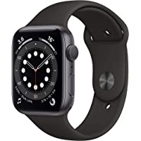 Novità Apple Watch Series 6 (GPS, 44 mm) Cassa in alluminio grigio siderale con Cinturino Sport nero