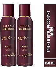 Fresh Essential No Gas Deodorant - Ignite, 150 ml (Pack of 2)