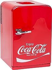 Coca-Cola EZetil Mini Kühlschrank F15, 12/230V - 15L mit Kühl- und Warmhaltefunktion für Getränke und Speisen, Energieeffizienzklasse A++, Rot