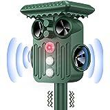 DANGZW Répulsif Chat Exterieur, Ultrason Solaire Répulsif Chat avec Flash LED, IP66 Étanche Ultrason Animaux Solaire pour Cha