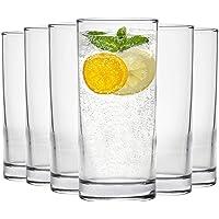 Grands verres traditionnel de la collection de vaisselle Argon - 285ml (10 oz) Coffret-cadeau de 6