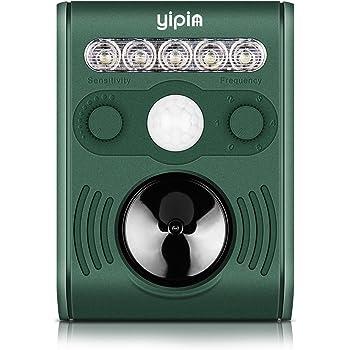 Repellente per Gatti YIPIN Repellente Ultrasuoni Animale Repeller Solare per Allontanare Gatti, Ratti, Cani, Uccelli, Parassiti, Volpi e altri, Repeller esterno per animali con LED lampeggiante