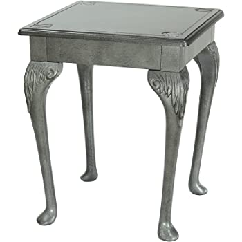 High Street Design Pewter Small OccasionalCoffee Side Table With - 17 inch high coffee table