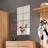 8 stuks spiegeltegels set spiegeltegel tegeltegelspiegel spiegel elk 20,5x20,5cm wanddecoratie wandspiegel
