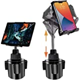 Tablet Car Mount for iPad, iPad Pro Car Holder, Cup Holder Tablet Mount for Car Truck Vehicle Heavy Duty Car Cradle Stand wit