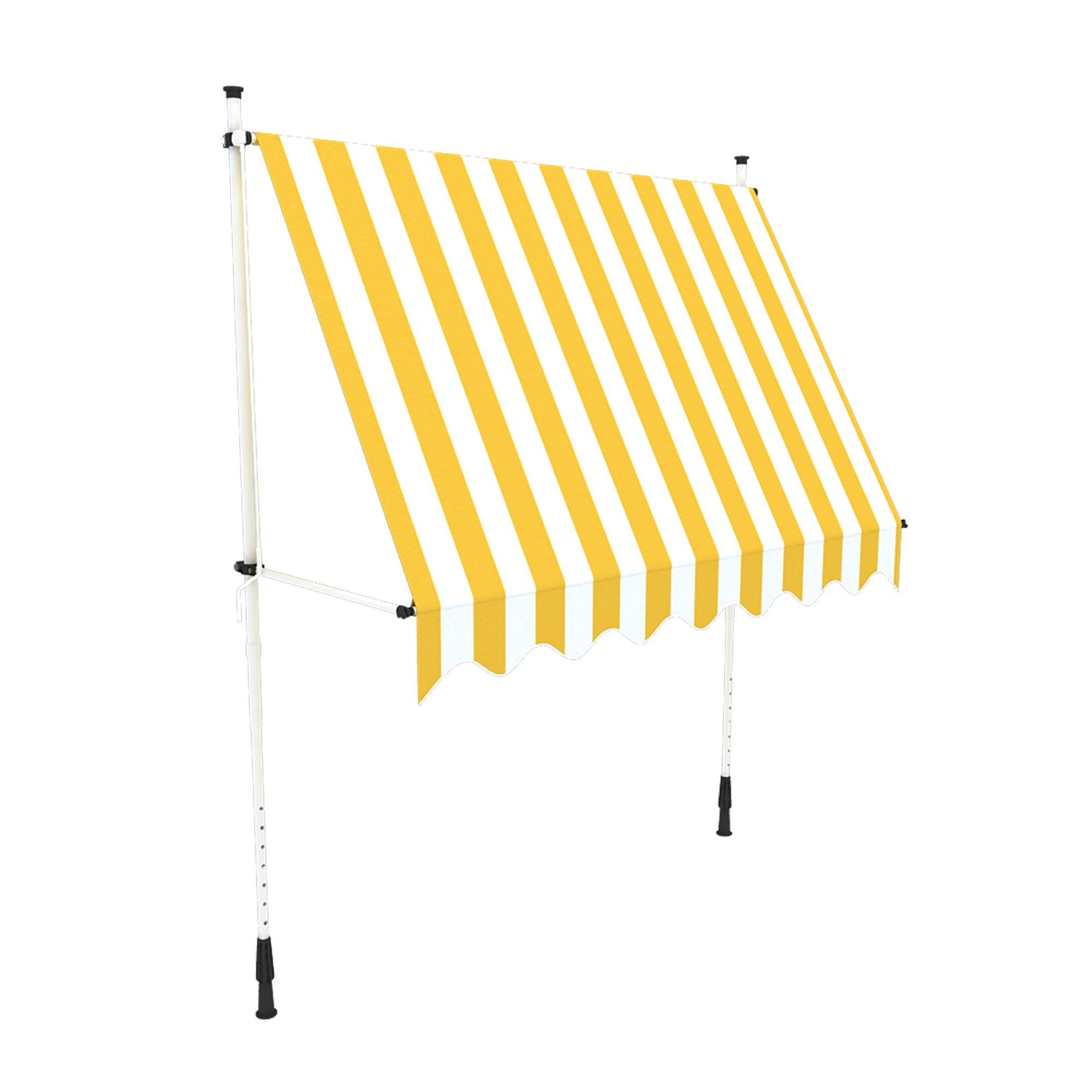 paramondo Jam Klemmmarkise Balkonmarkise ohne Bohren, Höhenverstellbar, UV beständig, mit Handkurbel, 3,95 x 1,20 m…