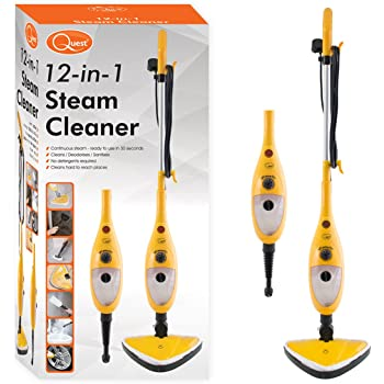 Quest (43560) 12-in-1 Steam Cleaner, 1300 Watts - Yellow