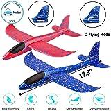 "FunBlast Airplane Toy Set of 2 - 17.5"" Large Throwing Foam Plane, Dual Flight Mode, Aeroplane Gliders, Flying Aircraft…"