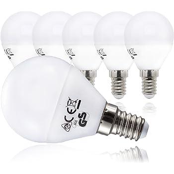 B.K.Licht LED Lampe Energiesparlampe E14 5er Set LED Birne 5 Watt ...