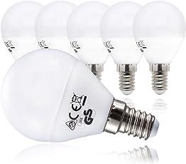 B.K.Licht LED Lampe Energiesparlampe E14 5er Set LED Birne 5 Watt Glühbirne  470 Lumen Leuchtmittel