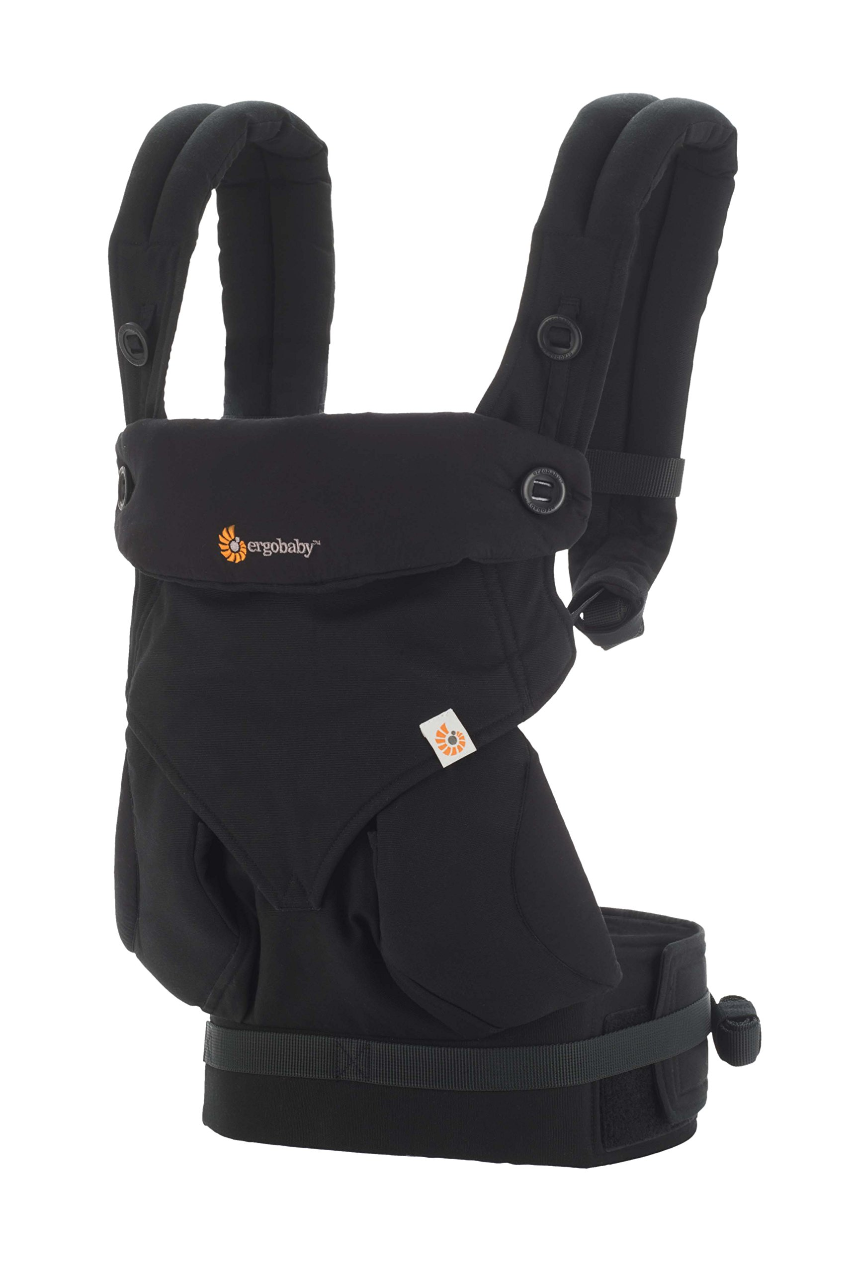 Ergobaby Baby Carrier up to 3 Years (12-45 lbs) 360 Pure Black, 4 Ergonomic Carry Positions, Front Facing Baby Carrier, Child Carrier Backpack Ergobaby Ergonomic baby carrier with 4 ergonomic carry positions: front-inward, back, hip, and front-outward. The carrier is suitable for babies and toddlers weighing 5.5-20 kg (12-45 lbs), and can be used as a back carrier. Also with insert for newborn babies weighing 3.2-5.5 kg (7-12 lbs), sold separately. NEW - The waistbelt with lumbar support can be worn a little higher or lower to support the lower back and provide optimal comfort, and has adjustable padded shoulder straps. The carrier is suitable for men and women. Maximum baby comfort - The structured bucket seat supports the correct frog-leg position for the baby. The carrier also has a padded, foldable head and neck support. Ergobaby carriers are a new take on the usual baby sling. 3