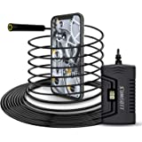 Endoscope WiFi 5M, sumgott Camera Inspection, 2.0 Mégapixels 1080P HD IP68 Etanche Camera Endoscopique pour IOS/Android…